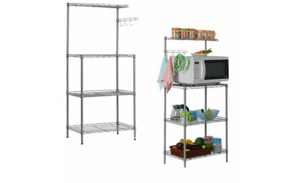 3-Tier Microwave Oven Stand Shelves Kitchen Baker Workstation Storage Cart