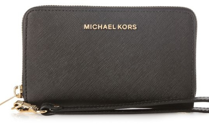 bf675fb3631071 Michael Kors Jet Set Travel Large Smartphone Wristlet - Black -  32H4GTVE9L-001
