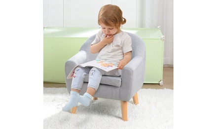 Children's Single Sofa with Sofa Cushion Removable and Washable
