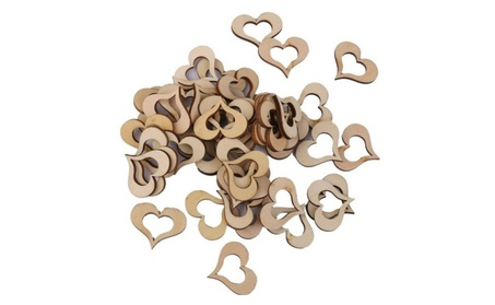 50 Pcs Shaped Rustic Wooden Love Heart Decoration Crafts For Wedding 3040f8a4-8f20-4b6d-b974-ee89498f2d06