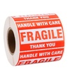 """Roll Labels Fragile Tapes 2""""x3"""" Handle With Care Stickers"""
