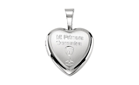 Sterling Silver Primera Communion Heart Locket 3fc65a25-3790-4b66-b3f2-705d2fe65b6f