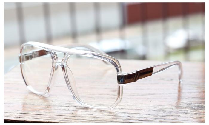 84e867e4d5f7 Classic Square Frame Plastic Clear Lens Aviator Glasses Plactic ...