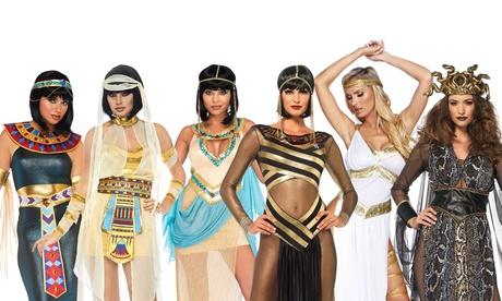 Leg Avenue Women's Nile Queen Catsuit Costume Set Sexy Egyptian Halloween Dress