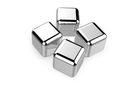 Stainless Steel Ice Cubes Deluxe - Set of 4\8 eab753e7-1996-46cb-a79f-9eb8b6d1bb6e