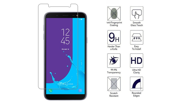 Premium Tempered Glass Screen Protector For Samsung Galaxy J6 Plus