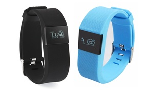 Bluetooth Fitness Activity and Sleep Tracker With LED Display Various Colors
