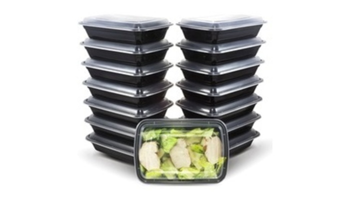 20 Piece Reusable Food Storage Containers Meal Prep Fitness