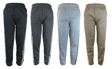 Mens Heavyweight Athletic Fleece Sweatpants with Elastic Waist & Cuffs 1dd7f6a9-d15e-4345-bfef-06973d6497b8