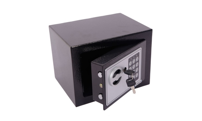 Small Black Steel Digital Electronic Safe Coded Box Home Office Hotel