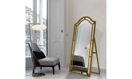Kali Floor Mirror Free Standing Satin Finish
