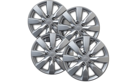 OxGord 16-Inch Wheel Covers for Toyota Corolla, SIlver (Pack of 4)