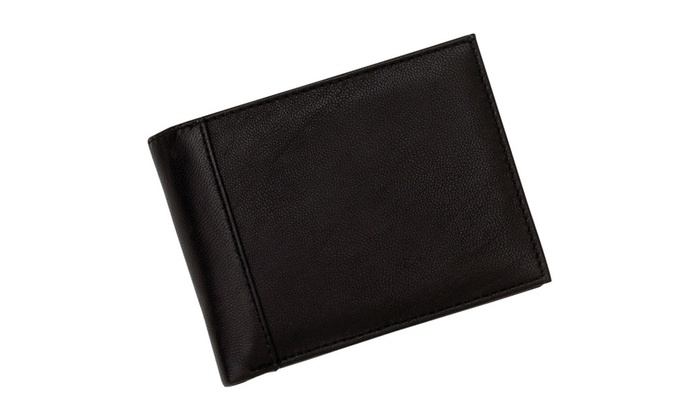 Embassy Men's Solid Genuine Leather Bi-Fold Wallet