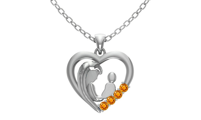 "2 3//8/"" 5CT CITRINE 925 STERLING SILVER pendant"