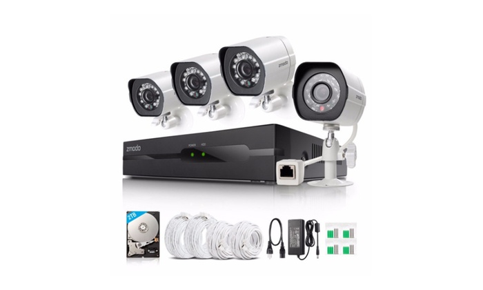 4 Piece HD 1080p Camera Home Security System