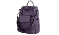 Women Backpack Purse PU Washed Leather Well Designed Rucksack Shoulder Bag (Citizen Save) photo