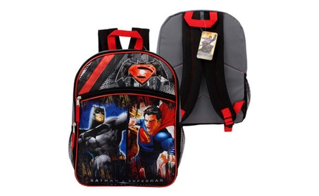 "16"" Batman Vs Superman Half Moon Basic Backpack 4ecd97f8-6fa9-482e-aff0-5a9765c93d0e"