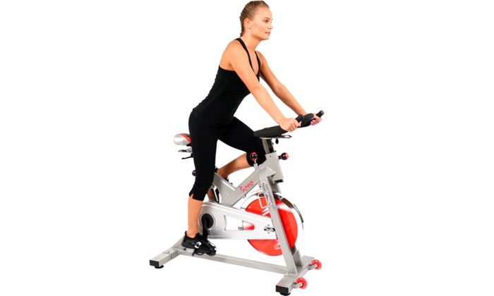 c13da179b70 Sunny Health & Fitness SF-B1110S Indoor Cycling Bike - Silver   Groupon