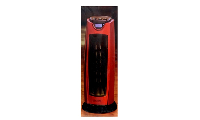 Living Solutions 21 Inch Oscillating Tower Heater With
