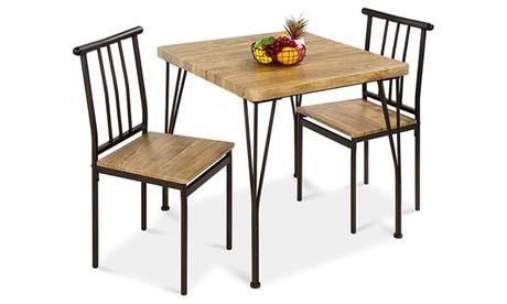3-Piece Modern Dining Table Set