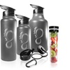 Insulated Stainless Steel 30, 40, Or 64 Ounce Infuser Water Bottle