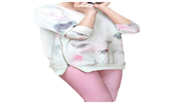 Women's Fashion Crew Neck Slim Fit Long Sleeve Pants Set