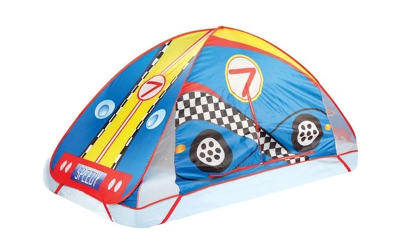 Race Car Kids Bed Tent Pop Up Play Tent Toddler Indoor Tent