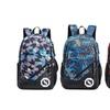 Plaid Printed Backpack Waterproof Geometric Printed Schoolbag Backpack