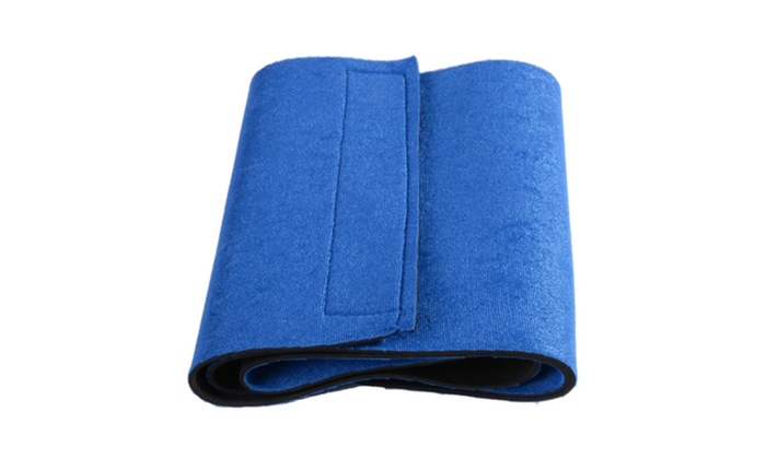 Waist Trimmer Exercise Wrap Belt Slimming Fat Sweat Weight Loss Shaper - blue