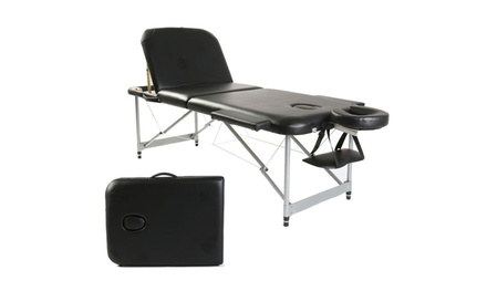 3 Section Professional Portable Massage Table, Adjustable SPA Bed