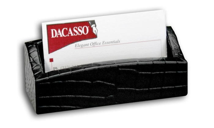 Dacasso a2207 crocodile embossed leather business card holder groupon dacasso a2207 crocodile embossed leather business card holder reheart Gallery