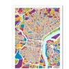 Michael Tompsett 'Philadelphia Pennsylvania Street Map III' Canvas Art
