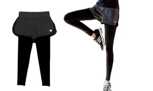 2-in-1 Athletic Shorts And Leggings Set Workout Gear