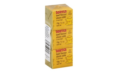 Telma Bouillon Cube Beef 3 Pack 1.5 oz. Pack Of 12 fa30f9e0-bf44-4c8d-bd0e-0fbe0fa463dc