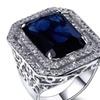 Amazing Cubic Zirconia Lead Free Vogue Big Square Copper Rings