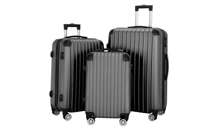 3 Piece Set Suitcase Hardside Spinner Lightweight Luggage with TSA Lock Was: $139.99 Now: $91.99.