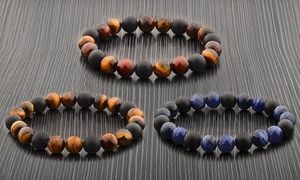 Natural Stone Beaded Stretch Bracelets