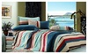 CC&DD HOME FASHION : 100% Cotton  Striped Duvet Cover Set Queen-sized