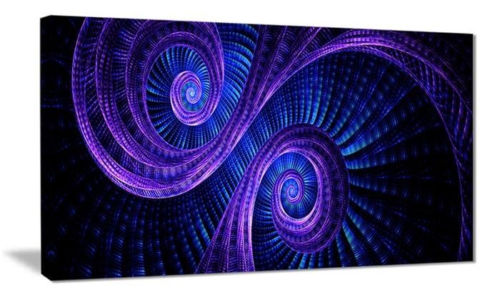 Royal Purple & Blue - Contemporary Wall Art | Groupon