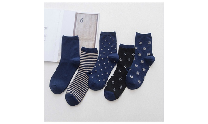 5 Pairs  Men's Cotton Casual Socks