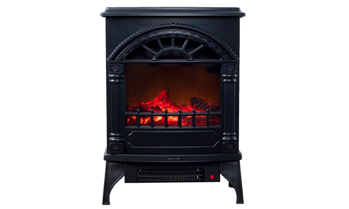 northwest freestanding electric log fireplace groupon