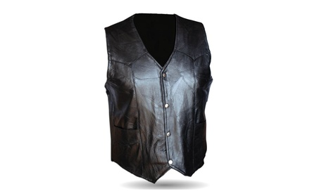 Motorcycle Vest Genuine Patche Leather 35543142-aac0-4f88-af83-d61dfcc7968f