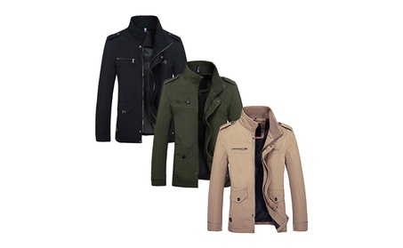 Men's Windproof Zip Up All Weather Jacket 6b6eaeec-9393-40ec-9ef0-a2c4169ddac7