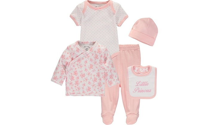 d4b41d66ede5 Wan-A-Beez Baby Boys  and Baby Girls  5 Piece Take Me Home Layette ...
