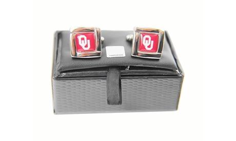 NCAA Oklahoma Sooners Square Cufflinks Gift Box Set b1683af1-8050-4df0-ab8f-aee0d02037f9