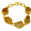 Orchid Jewelry Yellow Gold Overlay 70 Carat Genuine Citrine Bracelet