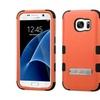 Insten Hard Hybrid Case W/stand For Samsung Galaxy S7 Orange/black