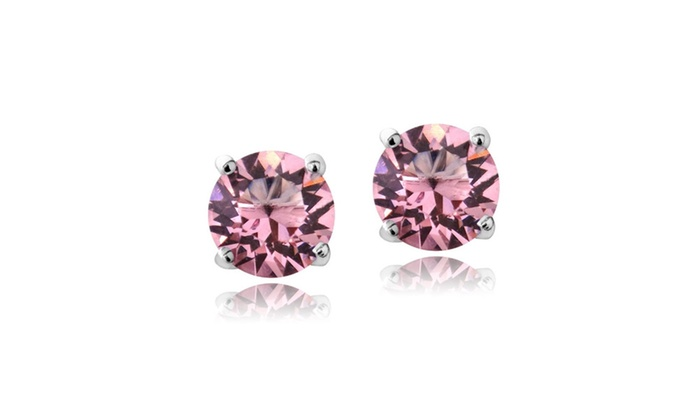 Opal Rose October Birthstone Stud Earrings Made With Swarovski Crystals