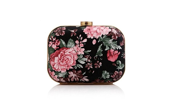 Womens Floral Party Evening Clutch Bag Wedding Party