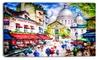 Sacre Coeur and Montmartre - Cityscape Canvas Print